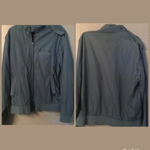 ✨ VTG Blue Windbreaker Jacket Full Zip Pocket Knit